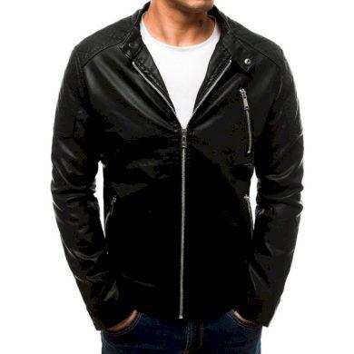 Pánská SPRING bunda koženka černá