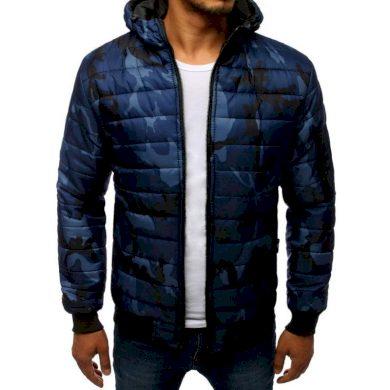 Pánská SPRING bunda prošívaná bomber jacket moro maskáčová tmavě modrá