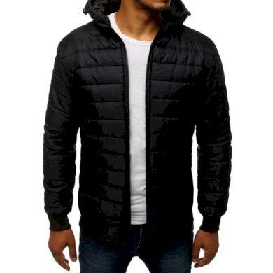 Pánská SPRING bunda prošívaná bomber jacket černá