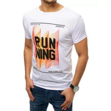 Pánské tričko s potiskem bílé RUNNING