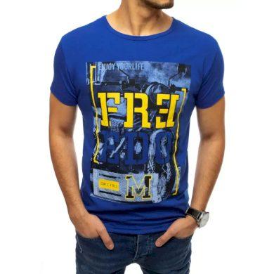 Pánské tričko s potiskem modré FREEDOM