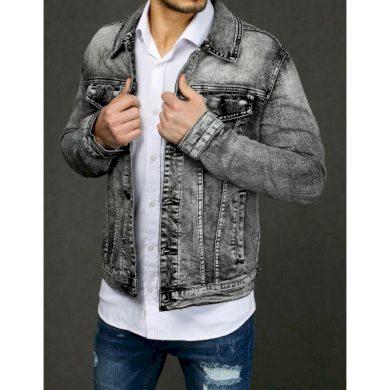 Pánská MEN bunda jeansová šedá TX3232