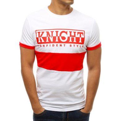 Pánské tričko s potiskem bílé RX3775