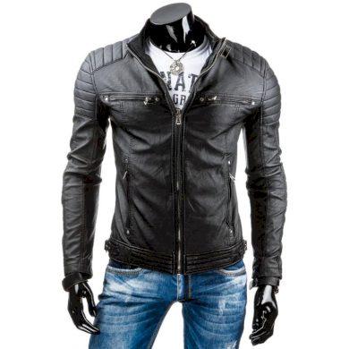 Pánská MEN bunda koženka černá TX3247