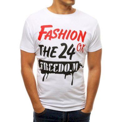 Pánské tričko s potiskem bílé RX3771