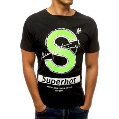 Pánské tričko s potiskem černé RX3799