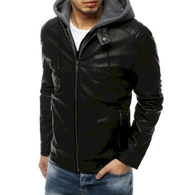 Pánská bunda koženka černá TX3198