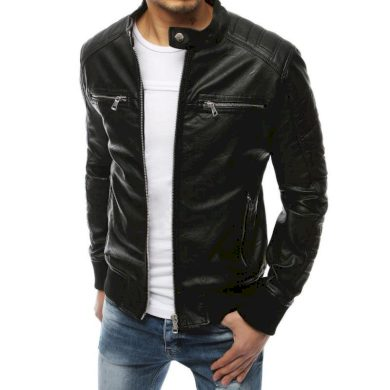 Pánská bunda koženka černá TX3251