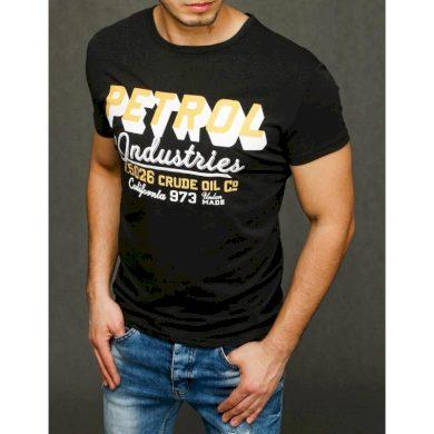 Pánské tričko s potiskem černé RX3923