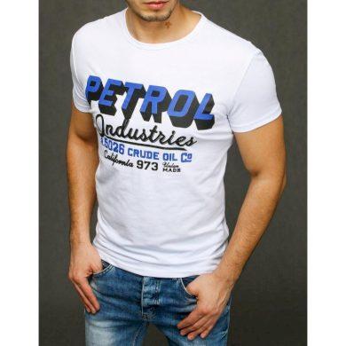 Pánské tričko s potiskem bílé RX3924