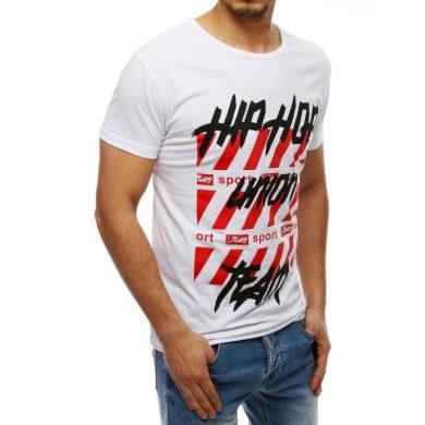 Pánská tričko s potiskem bílé RX3967