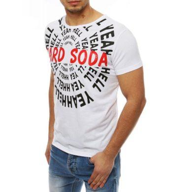 Pánská tričko s potiskem bílé RX4077