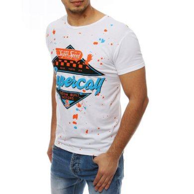 Pánské tričko T-shirt s potiskem bílé RX3974