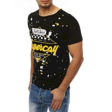 Pánské tričko T-shirt s potiskem černé RX3976