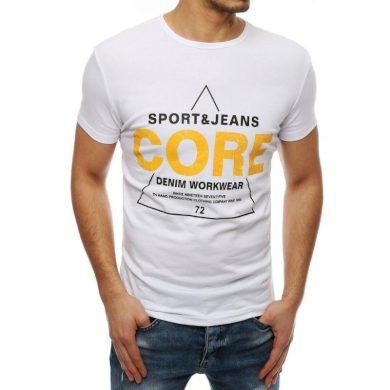 Pánské tričko T-shirt s potiskem bílé RX4050