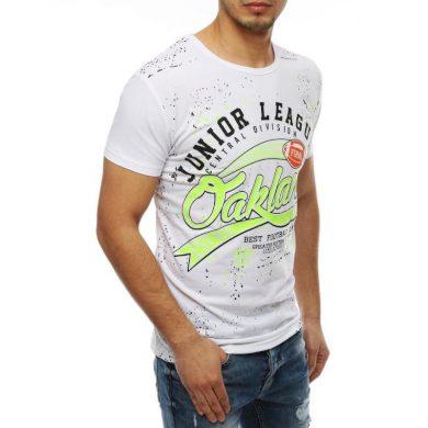 Pánské tričko T-shirt s potiskem bílé RX4071