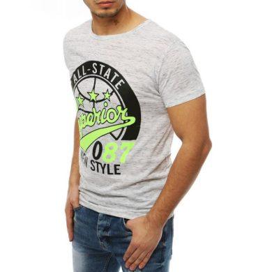 Pánské tričko T-shirt s potiskem bílé RX3953