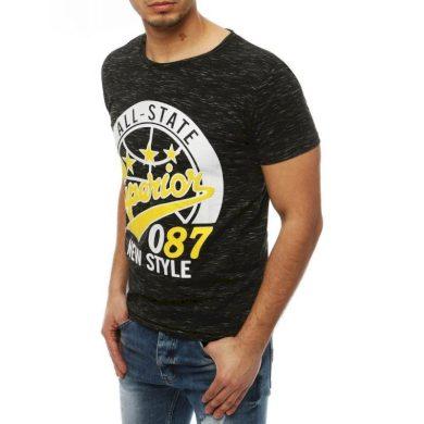 Pánské tričko T-shirt s potiskem černé RX3952