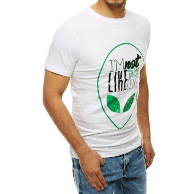 Pánské tričko T-shirt s potiskem bílé RX4154