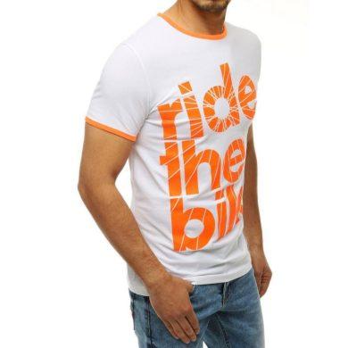 Pánské tričko s potiskem bílé RX4196