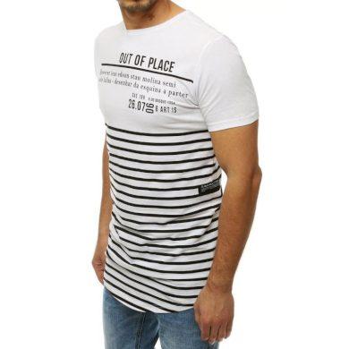 Pánské tričko s potiskem bílé RX4214