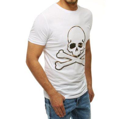 Pánské tričko s potiskem bílé RX4211
