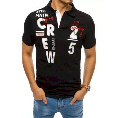 Pánské tričko s potiskem černé CREW