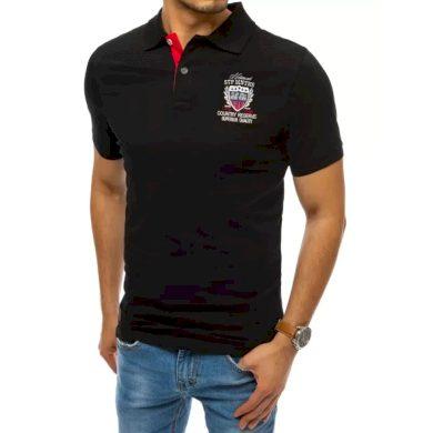 Pánské tričko s potiskem černé COUNTRY