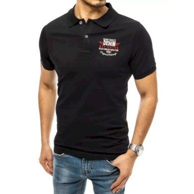 Pánské tričko s potiskem černé DENIM