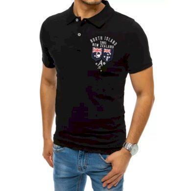Pánské tričko s potiskem černé ISLAND