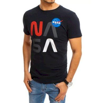 Pánské tričko s potiskem tmavě modré NASA