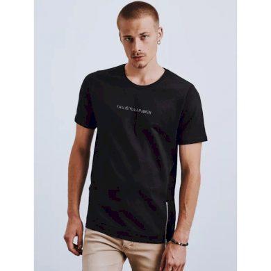 Pánské tričko s potiskem černé POWER