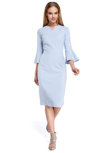 Dámské šaty Moe M299 světle modré