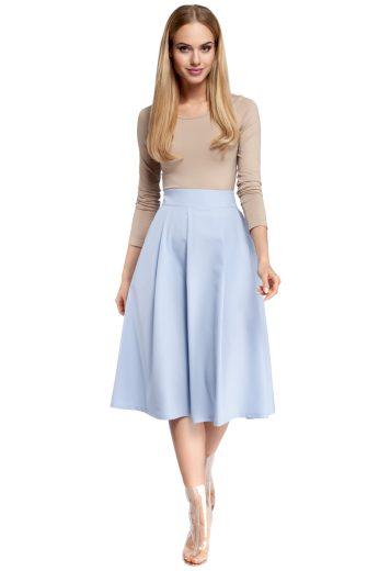 Dámská sukně MOE M302 světle modrá