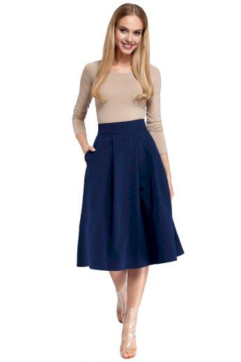 Dámská sukně MOE M302 tmavě modrá