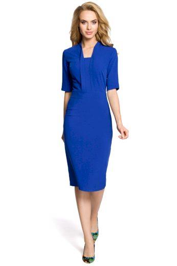 Dámské elegantní šaty MOE M310 modré