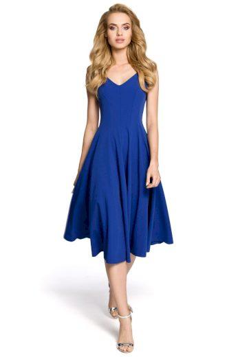 Dámské elegantní šaty MOE M201 modré