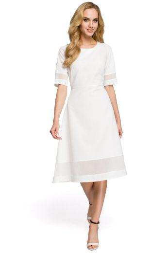 Dámské elegantní šaty MOE M272 bílé