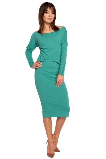 Dámské šaty Be B001 zelené