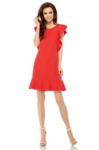 Letní šaty s volánem Lemoniade L248 červené
