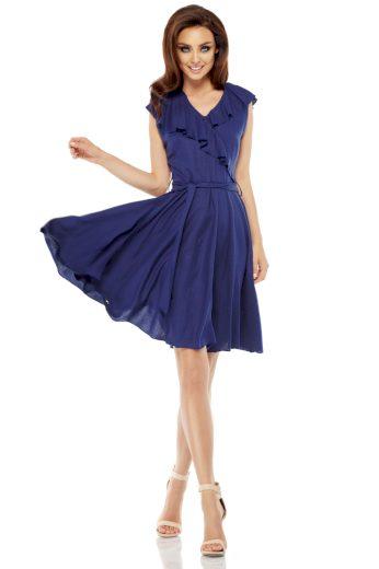 Letní zavinovací šaty Lemoniade L253 modré