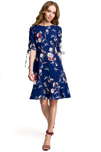 Dámské letní šaty MOE M381 modré