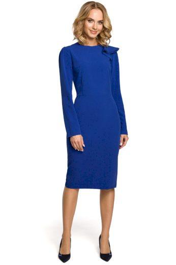 Elegantní pouzdrové šaty MOE 326 modré