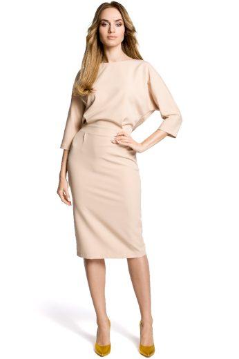 Elegantní šaty MOE 360 béžové