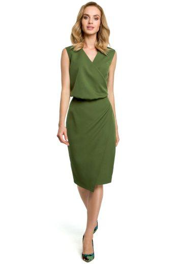 Elegantní šaty MOE 395 zelené
