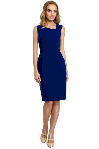 Elegantní pouzdrové šaty MOE 397 modré