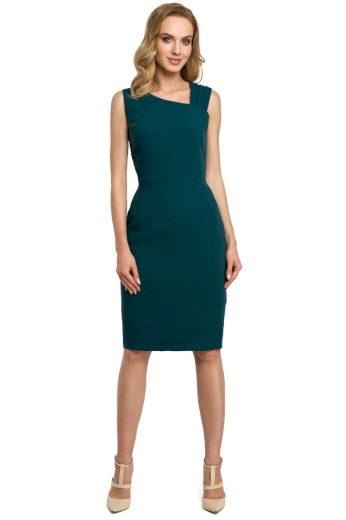 Elegantní pouzdrové šaty MOE 397 zelené