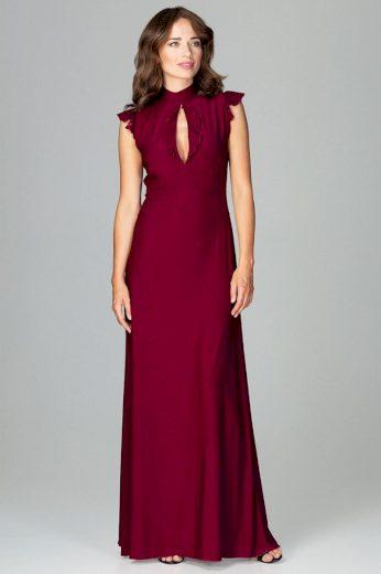 Společenské šaty Lenitif K486 bordó