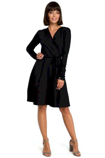 Nadčasové šaty Be B092 černé