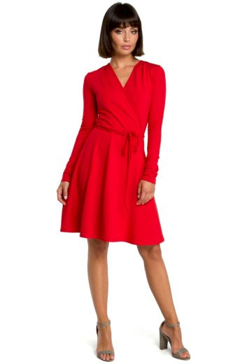 Nadčasové šaty Be B092 červené